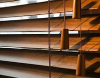 cedar timber blinds